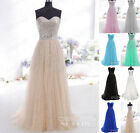 2015 Formal Long Evening Ball Gown Party Prom Bridesmaid Dresses Stock Size 6-16