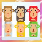 3D Monkey Animal Cartoon Silicone Full Protective Cover Case Apple iPhone 4 4S