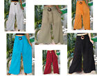 LADIES BAGGY PANTS- WIDE LEG- COCO BUCKLE SASH- SOLID COLOURS-VARIOUS