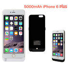 5000MAH EXTERNAL BATTERY CHARGER CASE POWER PACK BANK BACKUP FOR IPHONE 6 PLUS