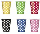 Decorative Polka Dot Paper Cups - Choose Colour from the list below