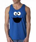 CLEARANCE Cookie Monster Face Cartoon 100% Cotton Tank Top M Royal
