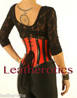 Red black Leather underbust corset belt waspie cincher 1214rb Top