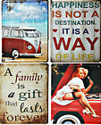 Retro Vintage Metal Sign - Wall Plaque - Various Designs -15cm x 21cm - Free P&P