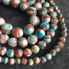 "Jade round striped dyed gemstone beads.15.5"" strand. Choose size 6 - 12mm SP35"