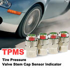 TPMS Car Bike Tire Pressure Valve Stem Cap Sensor Indicator 1.8-5.6BAR x 4 Piece