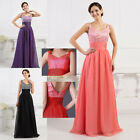 New Long 4Color Beading Prom Gown Evening/Formal/Party/Cocktail/Prom Dresses