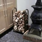METAL INDOOR LOG RACK BURNING STOVE WOOD STORAGE FIREWOOD FIREPLACE