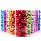 24X Christmas Tree Decor Shatterproof Xmas Ball Baubles Hanging Party Ornament