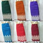 Lao Laotian Laos Weaving Cotton Blend Fabric for Women Sinh Skirt