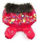 New Cute Sea Picture Printing Pet Dogs Winter Coat Dogs Clothes Red/Blue 1Pc