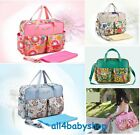 ★Bright Colour Large Waterproof Baby Nappy Changing Bags Diaper Hospital Bag NEW