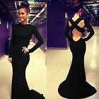 2015 XMAS Long Sexy Evening Party MERMAID Gown Formal Bridesmaid Cocktail Dress