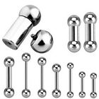 316L Surgical Steel Internally Threaded Barbell