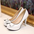 NEW Stunning Womens Bow High Heels Shoes Sz 1-13.5(H185870)