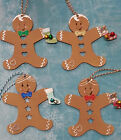 Christmas decoration Wooden Gingerbread Man or Lady  Hearts or Stars cut outs