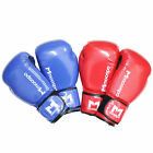 Boxing Gloves Pro Red Blue 10 12 14oz Training Sparring Elastic Wrist Wraps Hits