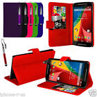 Leather Stand Card Slot Wallet Case Cover For Various Mobile Phones & Free Pen