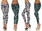 Blue or Green Camouflage Camo Pattern Leggings UK 8-12 (Trousers Army Pants)