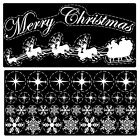 Reusable Merry Christmas Santa Sleigh Snowflake Cling Window Sticker Decorations