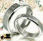 Customized Engrave His Hers Wedding Titanium Wedding Rings GMUSBA3
