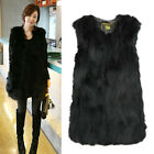 Warm Winter Real Farm Fox Fur Vest Gilet Long Fox Fur Jacket Grace Women HOT POP
