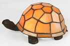 TIFFANY STYLE TABLE LAMP ORANGE TURTLE/TORTOISE DESIGN GLASS SHADE BUY 2 SAVE10%