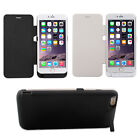 """10000mAh for iPhone 6 Plus 5.5"""" External Battery Backup Power Charger Flip Case"""