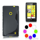 GEL CASE for NOKIA LUMIA N520 520 S-LINE COVER SKIN GRIP SILICONE + SCREEN GUARD