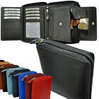 Wallet With All-Around Zip ++ Secret Compartment ++ Viennese Case in Leather