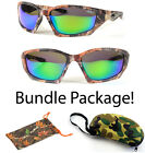 Sports Outdoors Hunting Best Deals - Polarized Camouflage Sports Hunting Mens Outdoors Sunglasses & Camo Hard Cases