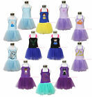 Princess Sofia Elsa Anna Snow White Rapunzel Mermaid Girl Halter Dress 1-7Year