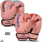 Kids Boxing Gloves Sparring Punch Bag Mitt MMA Training Girl Pink Size 4oz - 8oz
