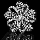 New Bridal Wedding Party Brooch Pin Lovely Shape Rhinestone Crystal Decroation