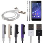 1M 3ft Magnetic Charging Cable Charger W/ LED Indicator For Sony Xperia Z3 Z2 Z1