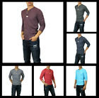 New Hollister by Abercrombie Men Pacific Coast Henley Long Sleeve Shirt Muscle