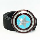 New Superhero Captain America Shield Mens Metal Belt Buckle Leather costume Gift