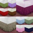 "1000TC Egyptian Cotton Multi Ruffle Bed Skirt 15"" Drop Choose Size n Color"