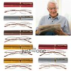 New f. Elder Metal Reading Glasses Presbyopic Tube Case +1.0+1.5+2.0+2.5+3.0+3.5