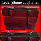 Briefcase Laptop Bag Business Bag Shoulder Bag Leather Made in Italy S003