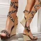 276 SEXY COMFORT WEDGE HEEL PLATFORM LEOPARD SHOES STORE INNMARK  UK 3  EU 36