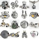 Fashion 925 Sterling Silver Charm Pendant Bracelet Dangle Bead Parts Accessory