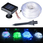 2015 LED Solar Wasserdichte Rohr Garden Party Lampe Rope String Fairy Neonlicht