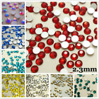 SS8.0 (2.3mm) Flatback Rhinestones Crystal Glass Nail Art Non Hotfix 1440s