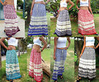 LONG MAXI SKIRT BOHO-SUMMER LIGHTWEIGHT-CASUAL- ELEPHANT DESIGN-VARIOUS COLOURS