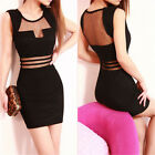 Lady Sleeveless Bandage Prom  Bodycon Cocktail Party Evening Dress Above Knee