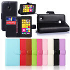 Leather Wallet Pouch Flip Case Cover For Nokia Lumia 530 Classic Lucky
