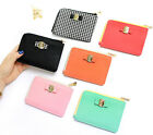 With Alice - Elly Card Case - Zip Around Zipper Mini Slim Half Sized Wallet-DSKC