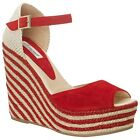SOMERSET BY ALICE TEMPERLEY HONEYSUCKLE WEDGE RED SANDALS NEW 5 6 7 RRP £165