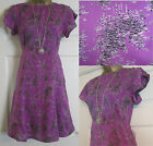 NEW EX WHITE STUFF AKIRA FLORAL SUMMER TUNIC TEA DRESS PINK PURPLE SIZE 8-18